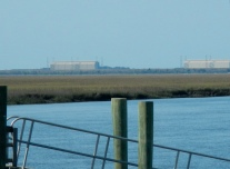 Kings Bay Naval Submarine Base. Dolphins swam beside us...were there nuclear submarines below?