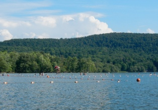 Swimming area at Glimmerglass State Park