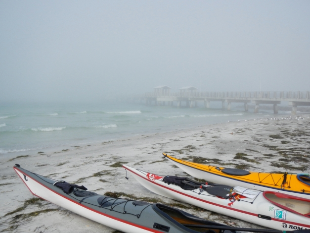 Fort Desoto Park, FL; February 2013. Foggy day at Sweetwater Kayak Symposium