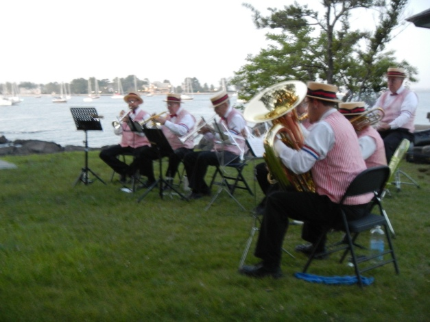 Fourth of July band in Manor Park, Larchmont, NY