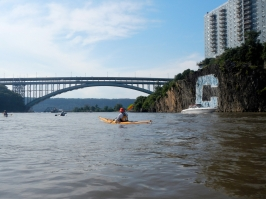 """4:48 p.m. Spuyten Duyvil, where the Harlem meets the Hudson; the """"C"""" means """"Columbia"""""""