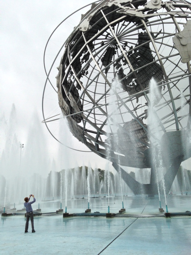 "Of all the techie wonders at last weekend's Maker Faire, the old Unisphere in Flushing Meadows Corona Park is what blew Jean away. (No, those ""Fountains of the Fairs"" aren't why it's called Flushing.)"