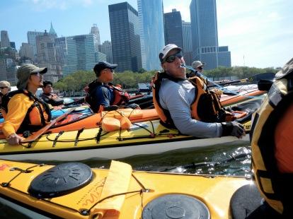 Rick and Andrew (R to L), Manhattan circumnavigation