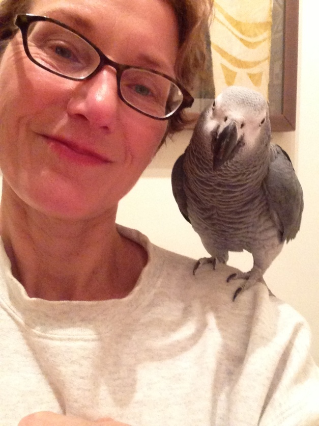 Jean and her BFF (best feathered friend). Hatched from an egg she bought 22 years ago!