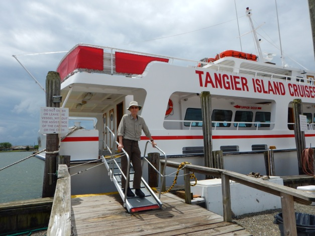 Alex boards the Crisfield, Maryland ferry to Tangier Island